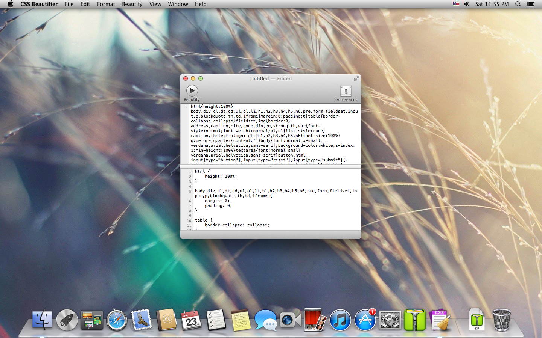 CSS Beautifier for Mac OS X