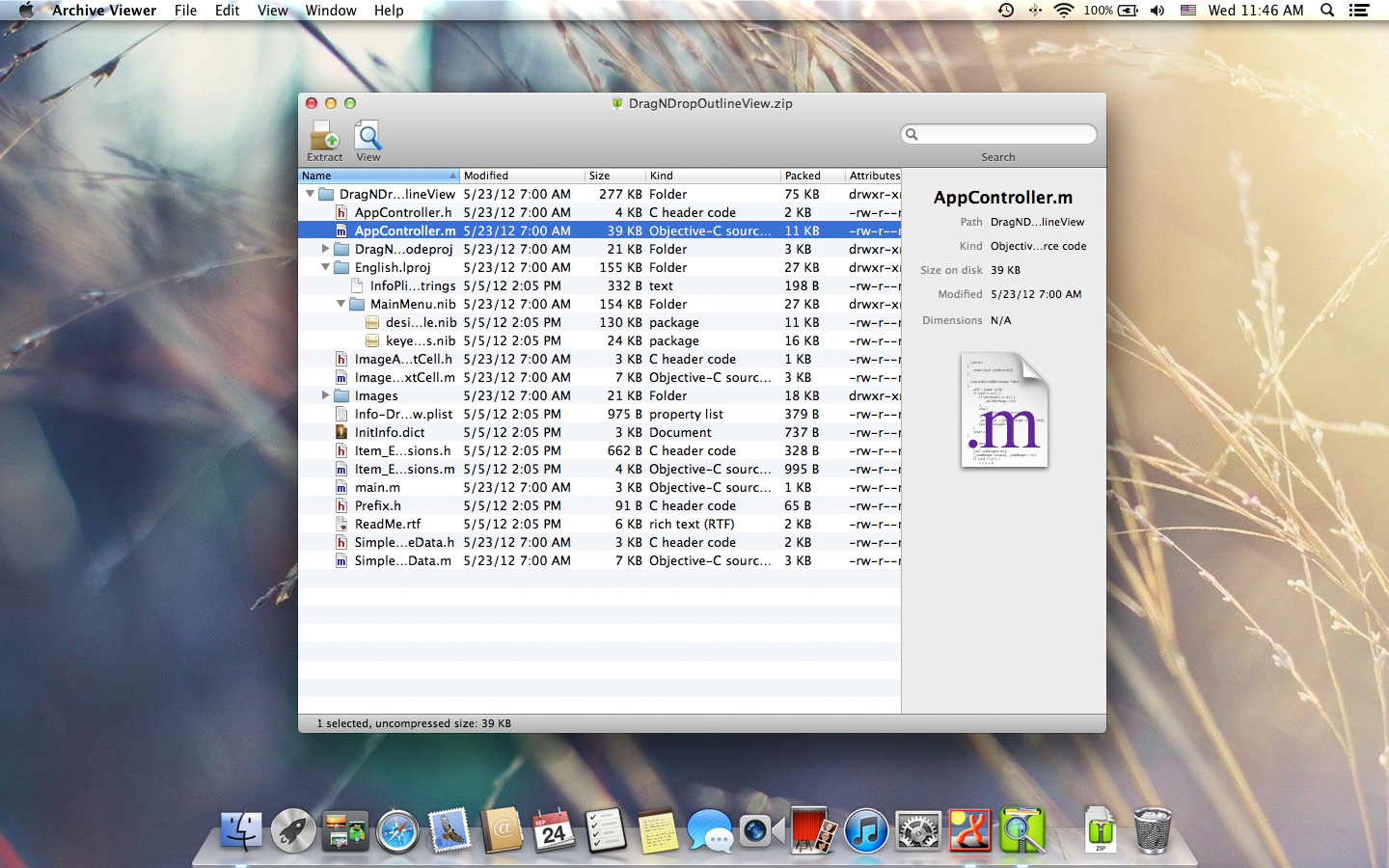 Archive Viewer for Mac OS X