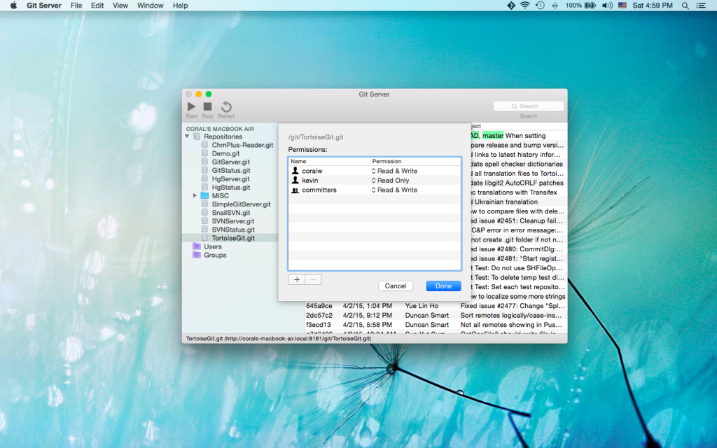Git Server for Mac OS X 1 0 Released | Langui net