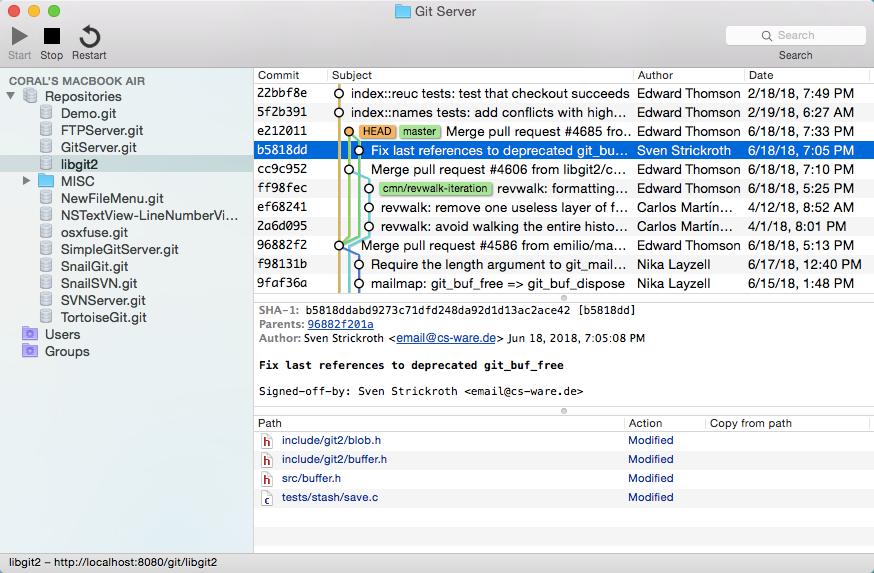 Git Server for Mac OS X