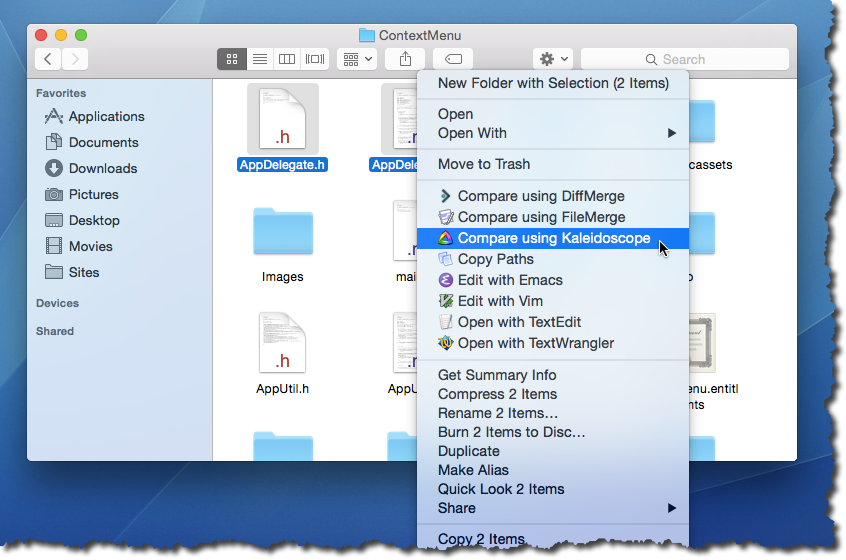 Context Menu 1 0 for macOS Released | Langui net